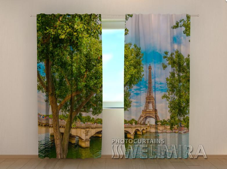 """Фото шторы """"Весна в Париже"""" 250 х 260 см"""