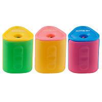 Точилка с контейнером, 1 отверстие, ассорти цветов, Twist, KITE