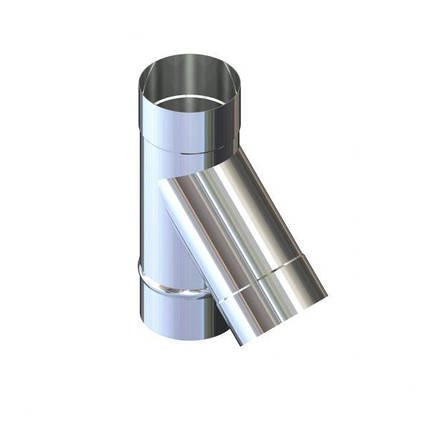 Фабрика ZIG Тройник 45° для дымохода D-200 мм толщина 0,8 мм, фото 2
