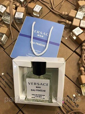 Мини парфюм версаче мен фреш Versace Man Eau Fraiche в подарочной упаковке 50 ml NEW (реплика), фото 2
