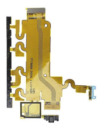 Шлейф Sony C6902, C6903, C6906, C6943 Xperia Z1 с кнопкой включения, громкости, камеры и микрофоном, фото 2