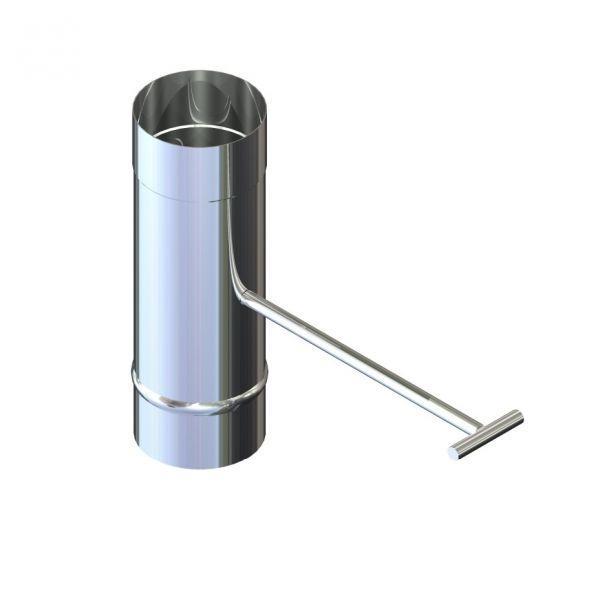 Фабрика ZIG Регулятор тяги для дымохода нержавейка D-100 мм толщина 0,6 мм