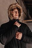 "Парку чоловіча Pobedov Winter Parka ""ALASKA BLACK, фото 3"