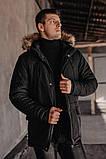 "Парку чоловіча Pobedov Winter Parka ""ALASKA BLACK, фото 4"