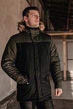 "Парку чоловіча Pobedov Winter Parka ""ALASKA BLACK-Khaki"