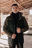 "Парка мужская Pobedov Winter Parka ""ALASKA BLACK-Khaki, фото 3"