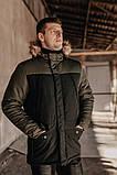 "Парка мужская Pobedov Winter Parka ""ALASKA BLACK-Khaki, фото 4"