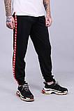 Спортивні штани з лампасами Kappa ч/к, фото 2