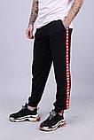 Спортивні штани з лампасами Kappa ч/к, фото 3