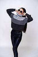 Свитер женский вязаный в стиле оверсайз (К29531), фото 1