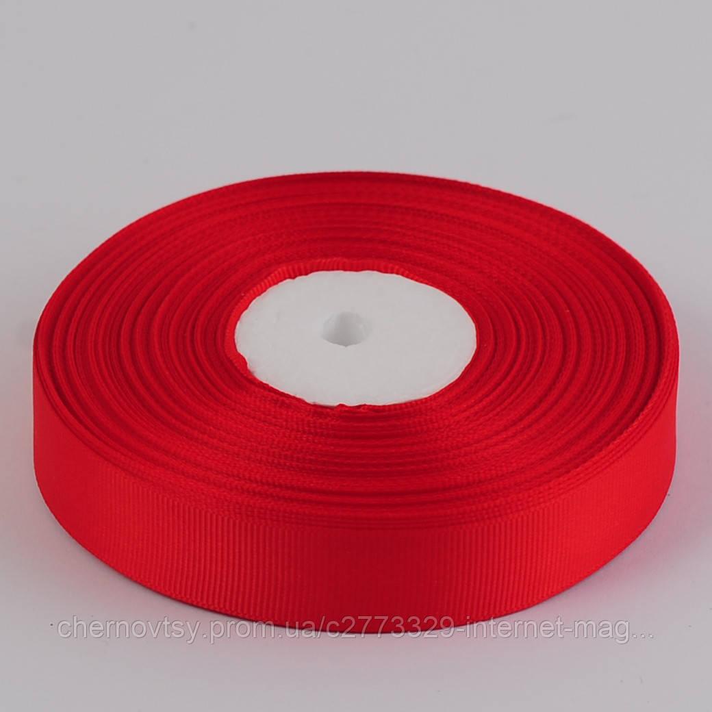 Стрічка репс 2 см, 33 м, Червона ТВ