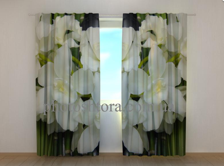 """Фото шторы """"Букет орхидей"""" 250 х 260 см"""