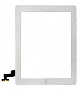 Сенсор (тачскрин) Apple iPad 2 A1395, A1396, A1397 белый с кнопкой HOME