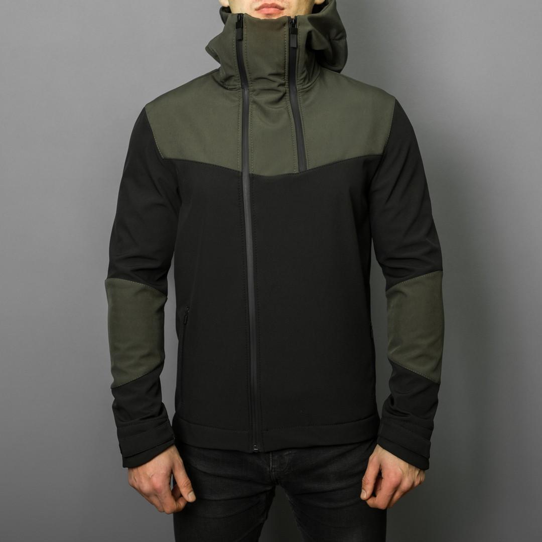 Мужская куртка Pobedov Jacket Khaki-Black (весна-осень)