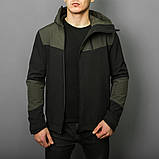 Мужская куртка Pobedov Jacket Khaki-Black (весна-осень), фото 5