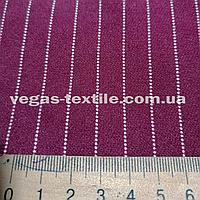 Ткань Креп Костюмка Барби( Бордовый-белый )