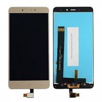 Дисплей Xiaomi Redmi Note 4 Helio X20 MediaTek с сенсором (тачскрином) золотистый