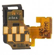 Шлейф Sony LT25i Xperia V с датчиком приближения и контактами коннектора гарнитуры