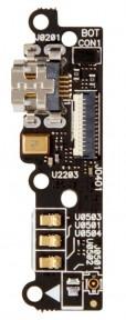 Нижняя плата Asus ZenFone 6 (A600CG, A601CG) с разьемом зарядки и микрофоном