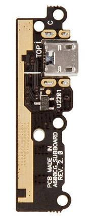 Нижняя плата Asus ZenFone 6 (A600CG, A601CG) с разьемом зарядки и микрофоном, фото 2
