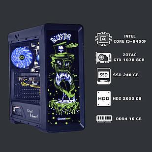 Компьютер для игр core i5 9400f+gtx 1070+ddr4 16gb+ssd 240