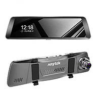 """Автомобильный видеорегистратор Anytek T90 original полный сенсорный экран 9.88"""" двойной объектив, автомобильные DVR камеры Starlight ночного видения"""