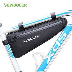 "Велосумка водоупорная вантажна ""bikepacking"" підрамна ""треуголка"" NEWBOLER BAG011 (V: 2 літри / L: 39 см)"