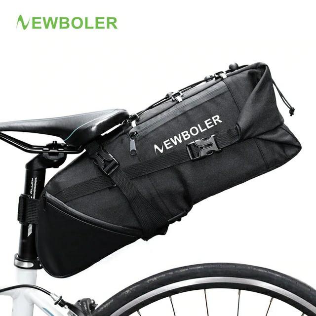 """Велосумка водоупорная вантажна """"bikepacking"""" підсідельна NEWBOLER BAG026 (V: 3-10 л / m < 8 кг / L: 46 см)"""