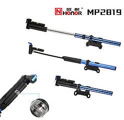 Насос вело ручной алюминиевый HONOR MP2819 (манометр / шланг)