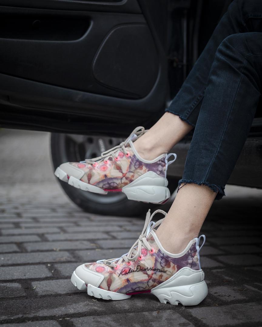 Кроссовки женские Dior Flowers