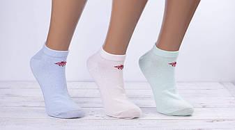 Носки жіночі стрейчеві шкарпетки Montebello з малюнком бджоли 35-40 12 шт в уп мікс 6 кольорів