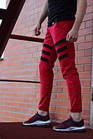 Спортивные штаны LC - Flip красный с черным, фото 1