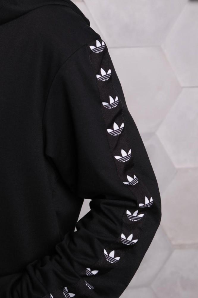 Худі Adidas чорний з чорним