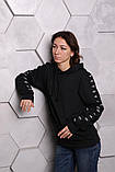Худі Adidas чорний з чорним, фото 8