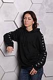 Худі Adidas чорний з чорним, фото 9