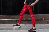 Спортивные штаны LC - Jet красно-черные, фото 2