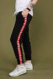 Штани чорні з червоним лампасом Карра, фото 3