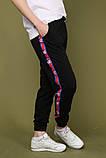 Штаны чёрные с чёрным лампасом Champion, фото 3