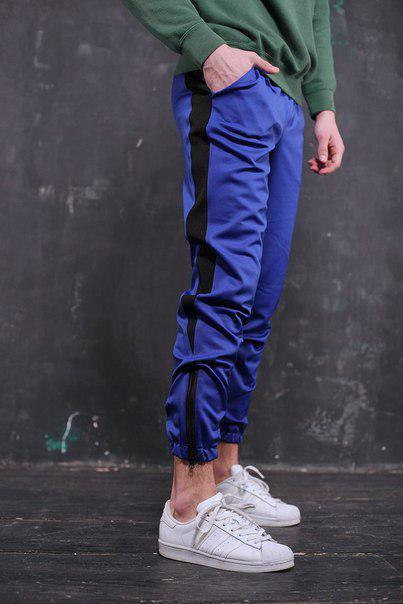 Мужские брюки синие спортивные, модель Rocky