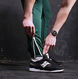 Мужские спортивные штаны зеленые с белой полосой,модель Рокки, фото 5