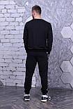 Світшот чорний з чорними смугами Fila, фото 3