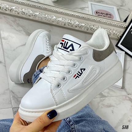 Кроссовки белые фирменные, фото 2