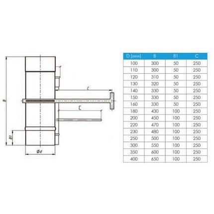 Фабрика ZIG Регулятор тяги для дымохода нержавейка D-130 мм толщина 1 мм, фото 2