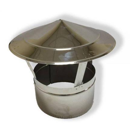 Фабрика ZIG Грибок для дымохода нержавейка D-110 мм толщина 1 мм, фото 2