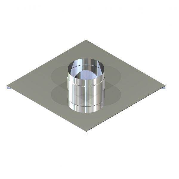 Фабрика ZIG Окончание для дымохода нержавейка D-110 мм толщина 0,6 мм