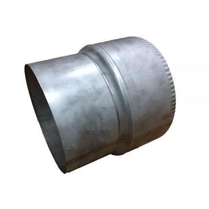 Фабрика ZIG Переход для дымохода нержавейка D-110 мм толщина 1 мм, фото 2