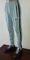 Спортивные штаны мужские с манжетами, трикотаж с полосой, фото 1