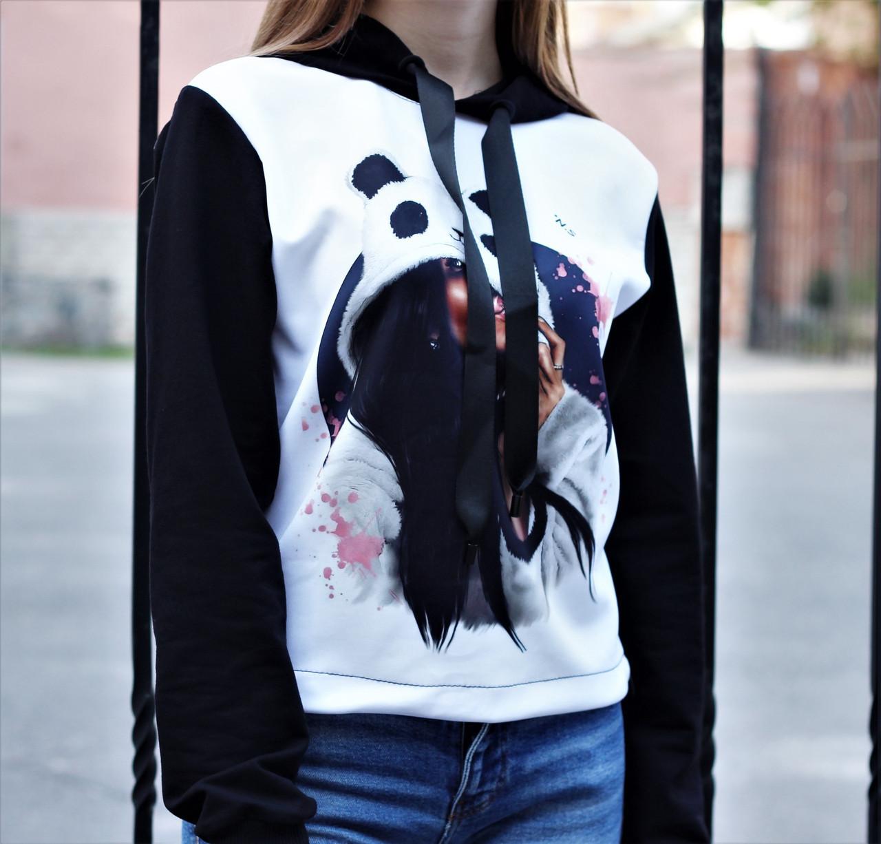 """Худі жіночий з принтом """"Panda"""""""