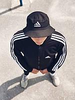 Олимпийка мужская в стиле Adidas Round черная!, фото 1