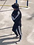 Олімпійка чоловіча в стилі Adidas Round чорна!, фото 3